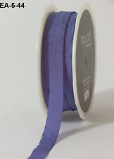 1/2 Inch Solid Wrinkled Ribbon - May Arts - EA44 - Periwinkle - 5 yds.