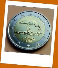 2 Euro Gedenkmünze Lettland  2015 - Schutzprogramm Schwarzer Storch - Neu