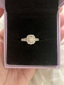 Ernest Jones 0.85 Carat Platinum Engagement Ring, Size I (eye)