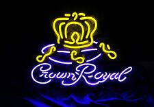 """""""Crown Royal"""" Vintage Man Cave Beer Bar Bistro Neon Sign Light Shop Poster Room"""
