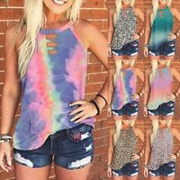 Women Casual Summer Sleeveless T-Shirt Vests Ladies Printed Tank Tops Blouse LIU