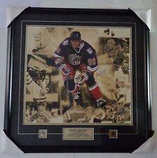 """Wayne Gretzky Great One NY Rangers 30.5x30.5"""" Framed Photo Auto Signature COA"""