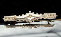 Victorian Silver bar brooch