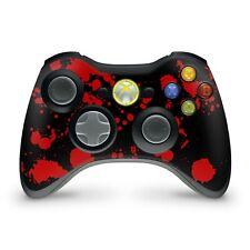 Xbox 360 Controller Skin Aufkleber Schutzfolie Sticker Skins Vinyl Blood Black
