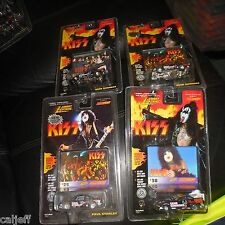 4 Car Lot Johnny Lightning KISS 1/64 Gene Simmons X3 & Paul Stanley x1