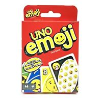 NEW UNO Emoji  Card Game Ages 7 and up Mattel Games FREE SHIPPING