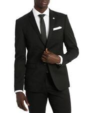 NEW Blaq Slim Twill Suit Jacket Black
