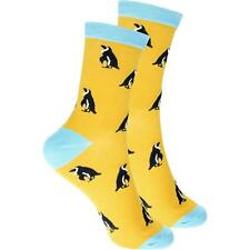 cosey dünne Socken – Pinguin gelb (40-45) 1 Paar - Baumwolle atmungsaktiv weich
