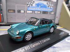 PORSCHE 911 964 Carrera 2 Cabrio Cabriolet grün green met 1990 Minichamps 1:43