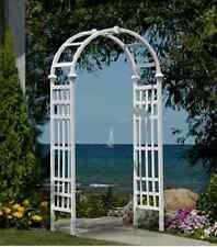 Arbor Garden Backyard Wedding Arch Trellis Vinyl White Decor Pergola Pathway