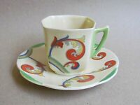 ROYAL DOULTON SYREN D5102 COFFEE CUP & SAUCER - ART DECO (Ref5495)