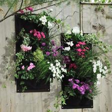Felt Hanging Wall Indoor Outdoor Garden 4 Pockets Planting Bags Seedling Planter