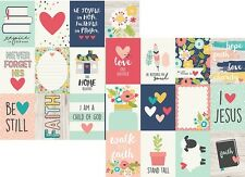 Simple Stories FAITH 12 x 12 Double Sided Paper 3 x 4 Journaling Card Elements
