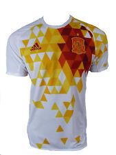 Adidas Hommes Espagne Maillot Football Extérieur Jersey Top T-shirt 2016 Blanc White S