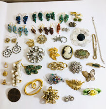 Brooches Job Lot Of # Vintage Costume Jewellery Earrings ,