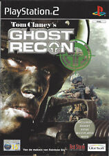 TOM CLANCY'S GHOST RECON for Playstation 2 PS2 - with box & manual - PAL
