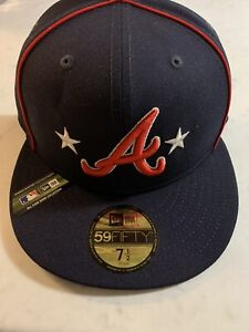 NEW W STICKER - Atlanta Braves All Star Collection On Field Hat - 7 1/2-MSRP $38