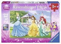 Ravensburger Puzzle Puzzles Kinder Disney Prinzessinnen im Garten 2 x 12 Teile