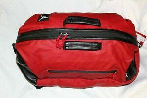 RARE! Nike Air Jordan Red Black Duffle Bag Backpack Gym School Laptop No Tags