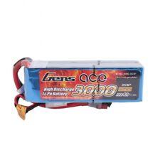 Gens Ace 3000mAh 11.1V 15C/30C 3S1P Lipo Batteria Con T-Plug Per RC Heli FPV