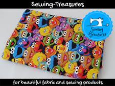 Sesame Street ~ Cotton Poplin woven fabric ~ Cookie Monster, Elmo, Bird Bird