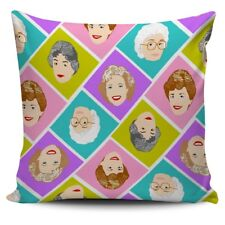 The Golden Girls Pattern Faces Pillow Case Sofa Cushion Cover