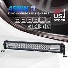 "22 Inch 450W 7D LED Light Bar Spot Flood Combo Driving Work Off Road 12V24V 23"""
