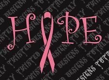 Breast cancer awareness Hope car truck vinyl decal sticker pink