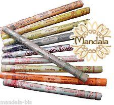 Lot de 5 Rouleaux de 15 bâtons d'encens - 25 Parfums au choix ! (Indian Incense)