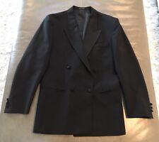 NWOT Ted Lapidus France Bespoke Peak Lapel Wool Mohair Tuxedo Jacket 38R $1995