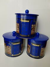 3x Crabtree & Evelyn Empty Biscuit Tins