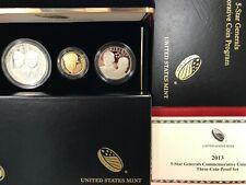 2013 5-Star Generals Commemorative 3-Coin Proof Set (w/Box & COA)