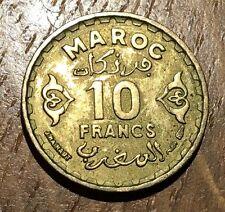 PIECE DE 10 FRANCS MAROC 1371 (63)