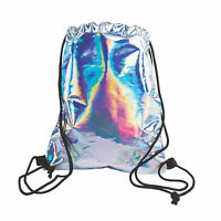 "Medium Iridescent Drawstring Bag - Mermaid Party Favor Bags - DIY - 12"" x 15"""