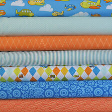 On The Go 7 Fabric Fat Quarters by Bo Bunny for Riley Blake, 1 3/4 yards total