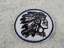 "Blue INDIAN CHIEF 3"" Embroidery Iron-on Custom Patch (E4)"