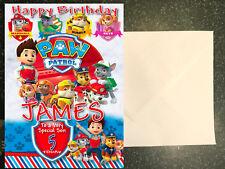 PAW PATROL - PERSONALISED Birthday Card AGE Son Brother Nephew Grandson