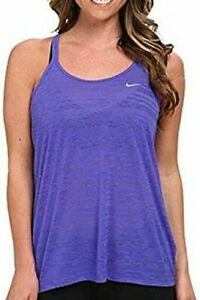 NEW Nike Women's Dri-FIT Cool Breeze Strappy Tank Top Purple Small 811449 NWT