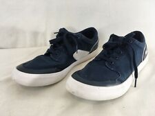Lacoste Mens 11 Blue White Alligator Lace Up Sneakers Shoes