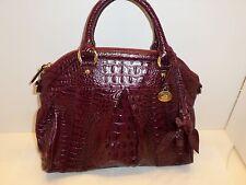 Brahmin Louise Rose Port Purple Lady Melbourne Leather Satchel EUC Used 1X $345