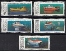 Russia - Soviet Union 1990 Mi.6138-42 Research submarines, set  (83026