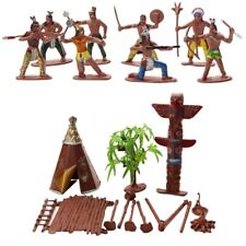Indians Wild West Cowboys Plastic Figures Toy Soldiers For Kids Funny Hot
