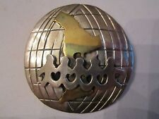 "Brooch Pendant - 2"" Diameter Sterling Silver ""Children Holding Hands"""