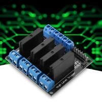 4 Channels Solid State Relay Module Board DC-AC 5V High Level Trigger w/ Fuse 2A