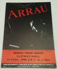 Vintage Claudio Arrau black red autographed 11x17 window card Clowes Hall Butler