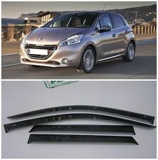 For Peugeot 208 Hb 5d 2012-  Side Window Visors Rain Guard Vent Deflectors