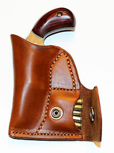 Pocket holster with ammo pouch left handed NAA 22 Mag 1 1/8 or 1 5/8 - leather