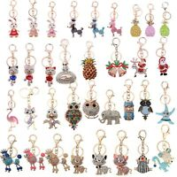 Rhinestone Crystal Keyring Cute Charm Pendant Purse Bag Key Ring Chain Keychain