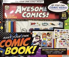 Comic Book Creator Starter Set- Kids Complete Kit To Create Own Superhero w