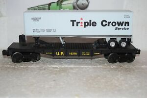 O Scale Trains Lionel Union Pacific Flat Car 16376 w/OTR Trailer